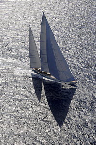 """SY """"Adele"""", 180 foot Hoek Design, at the Superyacht Cup Palma, October 2005 Non editorial uses must be cleared individually.  -  Rick Tomlinson"""