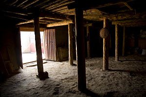 Ground floor and entrance of farmer's house, Dargye, Sichuan Province, Tibet, China - Dr. Axel Gebauer