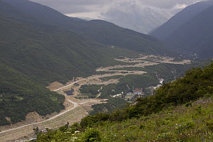 Road construction in Kangding, Sichuan, Tibet, China - Dr. Axel Gebauer