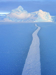 Tide crack in ice, Antarctica - Fred Olivier