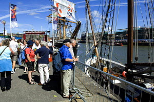 Spectators admiring tall ships at Bristol Harbour Festival, August 2008  -  Rob Cousins