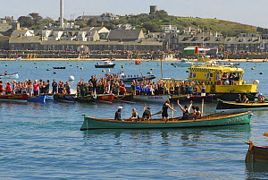 "Crews applaud the Cattewater ladies in ""Pilgrim"" after the 19th World Pilot Gig Championships final, Isles of Scilly, May 2008 - Adam White"