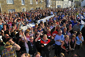 Crowds celebrating at the awards ceremony of the 19th World Pilot Gig Championships, Isles of Scilly, May 2008 - Adam White