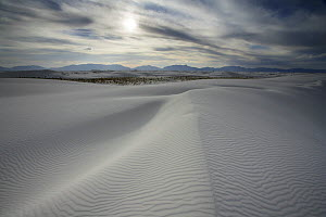 Ripples and ridges in the sands of White Sands National Park with San Andres Mountains on the horizon, Chihuahuan Desert, New Mexico, USA - Thomas Lazar