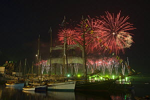 Fireworks at Douarnenez Maritime Festival, France, July 2008  -  Benoit Stichelbaut