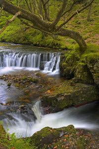 Horsehoe falls in the Brecon Beacons National Park, Powys, Wales - Adam Burton