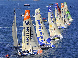Startline of the In-port Race 1, Alicante, Spain. Volvo Ocean Race 2008-2009. For EDITORIAL USE only.  -  Rick Tomlinson