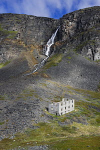 Buidling remains from mining activities in northern Norway, Troms. July  -  Roy Mangersnes