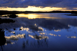 Sunset over Loch Lurgainn, Highlands, Scotland, UK  -  Jouan & Rius