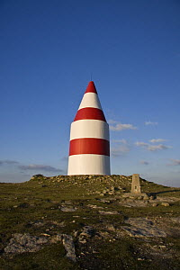 The Daymark, erected in 1683. St.Martin's, Isles of Scilly December 2008.  -  Merryn Thomas