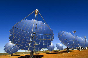 Large solar panels for generating electricity by solar power, Hermannsburg, west of Alice Springs, Northern Territory, Australia, August 2007 - Steven David Miller