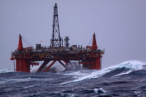"Oil rig ""Northern Producer"" in a force 9 gale. North Sea, March 2009. - Philip Stephen"