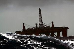"Oil rig ""Northern Producer"" in stormy conditions. North Sea, March 2009. - Philip Stephen"