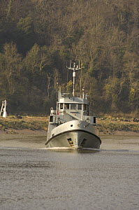 """Restored naval launch """"Pride of Bristol"""" motoring up the Avon Gorge. March 2009. - Rob Cousins"""
