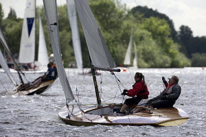 Thames A Raters racing on the river Thames during the Bourne End Week organised by the Upper Thames Sailing Club, May 2009. - Richard Langdon