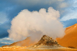 Steam vent at Hverir. N�mafjall, Iceland. June 2008  -  Orsolya Haarberg