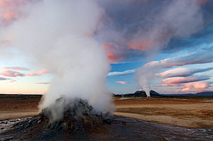 Volcanic activity, Steam vent, Hverir, N�mafjall, Iceland, July 2008  -  Wild Wonders of Europe / O. Haarberg