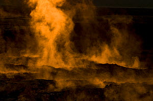 Acidic steam and solidified lava surface at Leirhnj�kur. Iceland.July 2008  -  Orsolya Haarberg