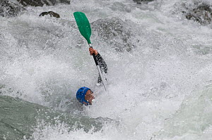 Kayaking down the River Durance, Alps, France, July 2008  -  Jean E. Roche