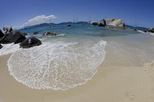 The Baths, Virgin Gorda, with Tortola in the background. April 2009. - Ingrid Abery
