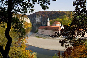 Weltenburg Monastery and the River Danube Canyon, autumn, Bavaria, Germany, October 2008 - Martin Gabriel