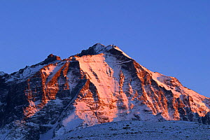 Paine massif at sunset, Torres del Paine National Park, Chile, July  -  Freya Short