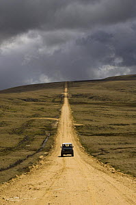 Straight road connecting Port Howard to Port Stephens, Port Howard, Northern end of West Falkland, Falkland Islands  -  Pete Oxford