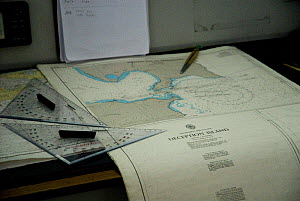 Nautical maps of Deception Island, Antarctic Peninsula, Antarctica, February 2006 - Gabriel Rojo