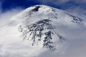 Mount Elbrus, the highest mountain in Europe (5,642m) surrounded by clouds, Caucasus, Russia, June 2008  -  Wild Wonders of Europe / Schandy