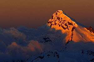 Early morning light on a mountain west of Elbrus, Caucasus, Russia, June 2008  -  Wild Wonders of Europe / Schandy