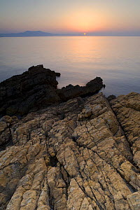 Sunrise over the sea, Alonissos island, Greece, September 2008  -  Wild Wonders of Europe / Unterthiner
