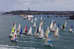 Fleet departing Saint Malo, Tour de Bretagne, September 2009. - Benoit Stichelbaut