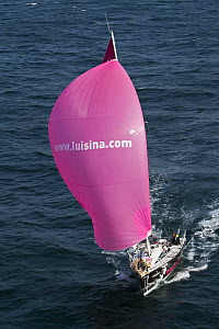 """Luisina"" (Eric Drouglazet and Laurent Pellecuer) on the Brest/Piriac leg, in the Passage du Raz de Sein, during the Tour de Bretagne, September 2009. - Benoit Stichelbaut"