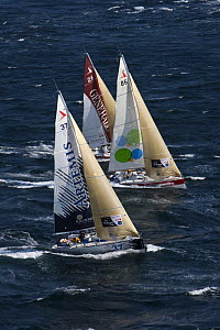 Yachts off Raz De Sein, Finistere, Brittany, during the Tour de Bretagne, September 2009. - Benoit Stichelbaut