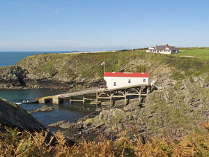 St Davids Lifeboat Station at St Justinian's, Pembrokeshire, Wales. September 2009. - Norma Brazendale