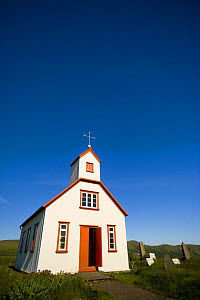 Grof Protestant Church, on the way to Landmannalaugar, South Iceland. July 2008  -  Inaki Relanzon
