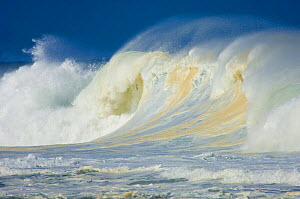 Large waves breaking off the most southern coast of Madagascar, Cap Sainte Mairie, May 2007.  -  Inaki Relanzon