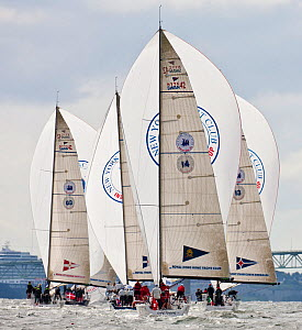 Fleet racing at the New York Yacht Club Invitational Regatta, Newport, Rhode Island. September 2009.  -  Onne van der Wal