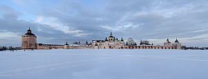 """Kirillo-Belozersky Monastery (founded by Sain Kirill of Belozero in XIV century) on the shore of Siverskoe lake. Vologda Province of the Russia North.  Russia Federal Heritage site.   National Park """"R...  -  Konstantin Mikhailov"""