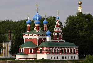 Church of the Blood of Prince Dimitry with onion domes (built in 1692) Uglich, Yaroslavl Oblast, Russia, June 2007  -  Konstantin Mikhailov