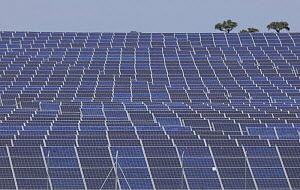 Mass of solar panels, La Serena, Extremadura, Spain, April 2009 - Wild Wonders of Europe / Widstrand