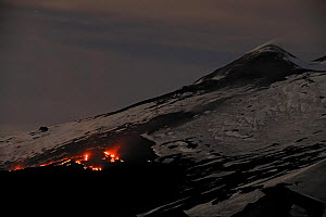"Lava flow in the ""Valley del Bove"" the Eastern side of Mount Etna Volcano, Sicily, Italy, May 2009  -  Wild Wonders of Europe / Grunewald"