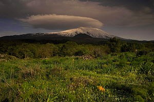 Western side of Mount Etna volcano, Sicily, Italy, May 2009  -  Wild Wonders of Europe / Grunewald