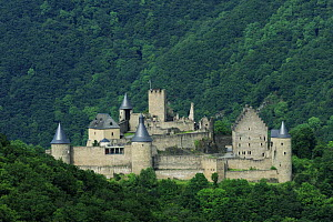 Bourscheid Castle, Oesling, Ardennes, Luxembourg, May 2009  -  Wild Wonders of Europe / T�nning