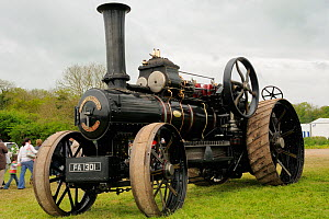 Steam powered traction engine on display at North Somerset Show, Wraxall, Nr Bristol, UK. May 2009  -  Nick Upton