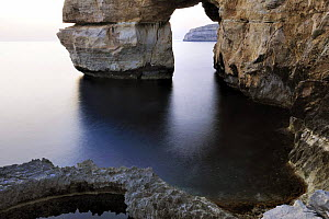 Rock formations / Azur Window at Blue Hole, Dwejra, Gozo, Malta, May 2009  -  Wild Wonders of Europe / Zankl