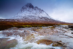 Buachaille Etive Mor during spring thaw, Glencoe, Scotland, UK, March  -  Laurie Campbell