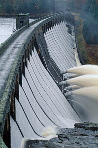 Outfall from hydroelectric Laggan Dam, Lochaber, Scotland, UK, February  -  Laurie Campbell