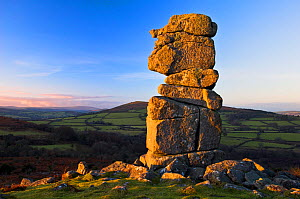 Bowerman's nose, Natural rock feature, Hayne Down, Dartmoor National Park, Devon, England, December  -  Guy Edwardes