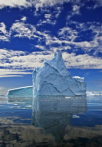 Iceberg reflected in sea, Fournier Bay, Antarctica (non-ex) - Andy Rouse
